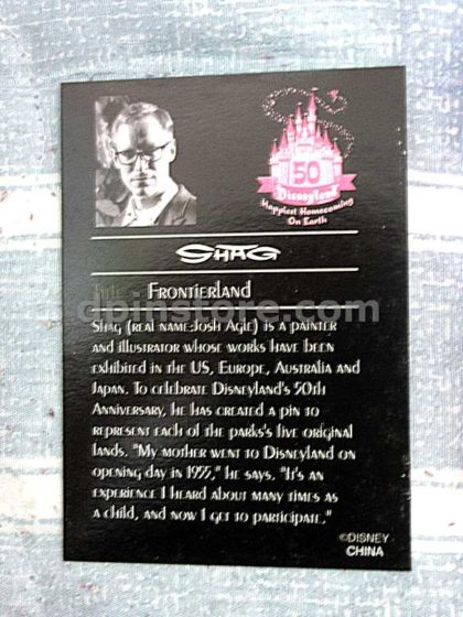 Disneyland 50th Anniversary Frontierland Limited Edition Pin By SHAG