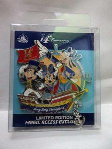 Hong Kong Disneyland 14th Anniversary Mickey Mouse Limited Edition Pin