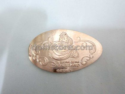Hong Kong Disneyland Disney Princess Elongated Penny Coins Set of 3 (2020 Version)