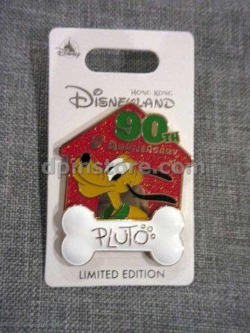 Hong Kong Disneyland Pluto 90th Anniversary Limited Edition Pin