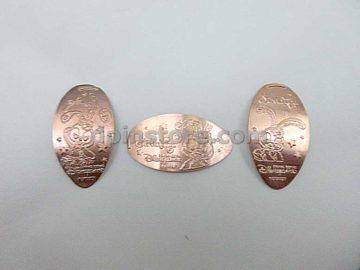 Hong Kong Disneyland Rabbit StellaLou Elongated Penny Coins Set of 3 (2020 Version)