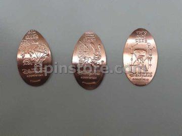 Hong Kong Disneyland Toy Story Elongated Penny Coins Set of 3 (2020 Version)