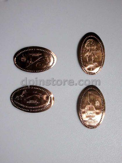 Ocean Park Hong Kong Elongated Penny Coins Set of 4 (Attractions)