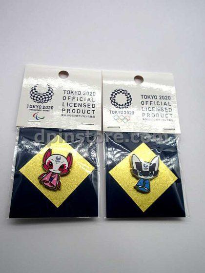 Tokyo 2020 Olympic Mascot Pin Set of 2