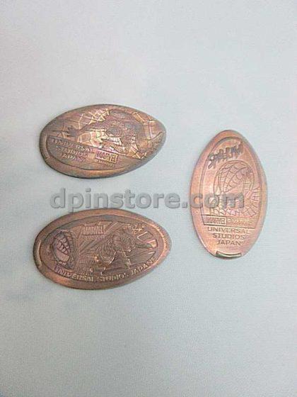 Universal Studios Japan Spider-Man Elongated Penny Coins Set of 3